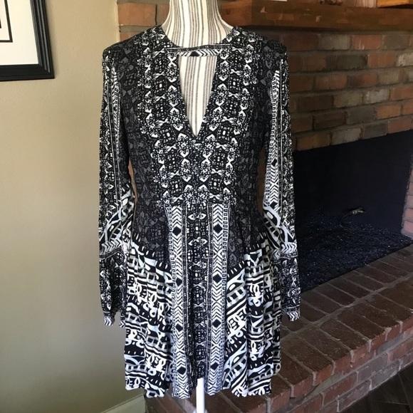 Free People Dresses & Skirts - NWT Free People Tegan Mini Dress Black Combo Sz 8
